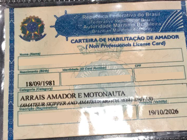 Carteira Motonauta